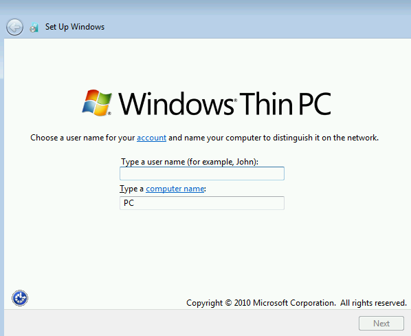Creating a Windows 7 Thin PC Unattended Installation