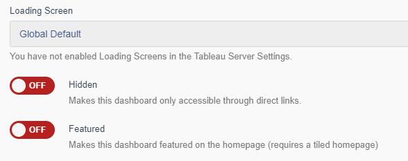 Portals for Tableau - Loading Screens