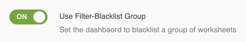 User Filter-Blacklist Group