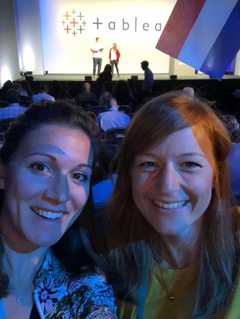 Kristi and Marleen at TC18 Europe in London