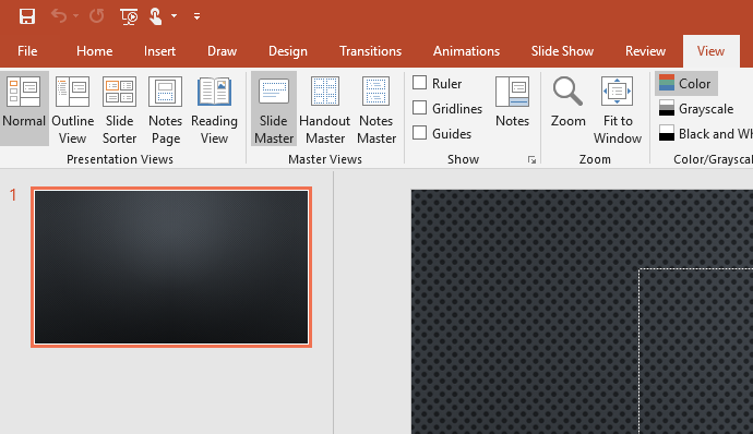 View and Slide Master in PowerPoint
