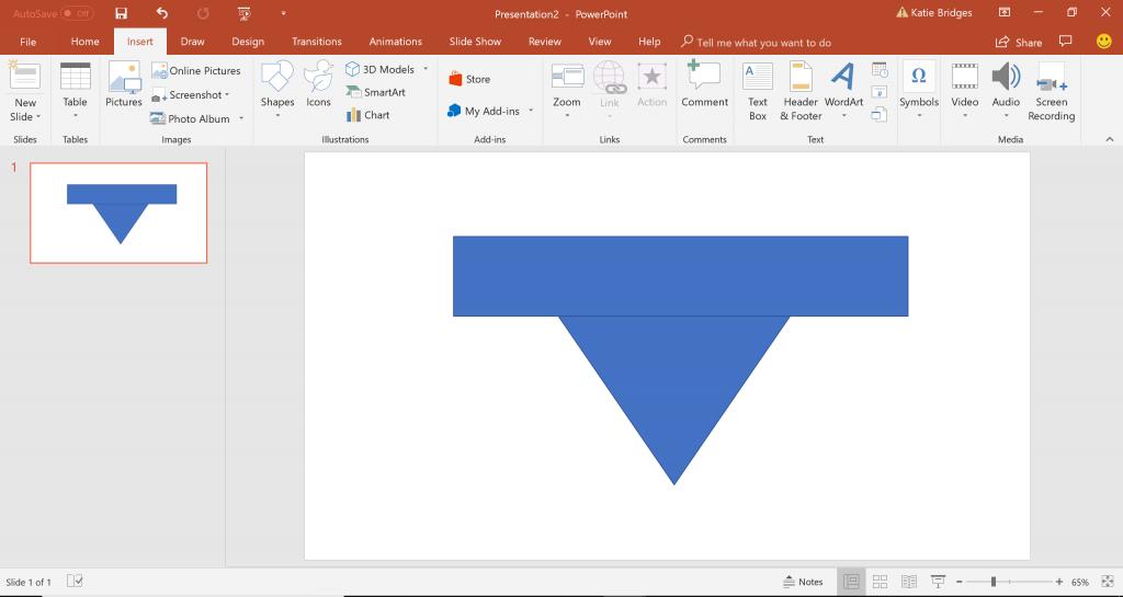 Funnel in PowerPoint
