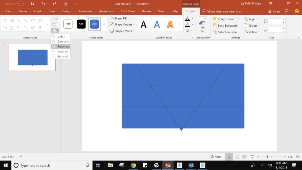 Fragment in PowerPoint