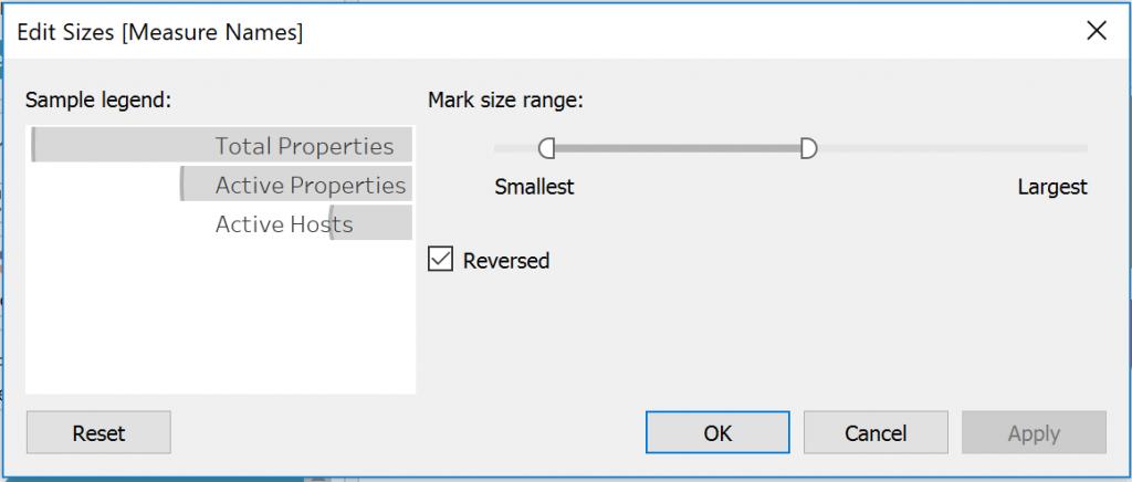 Edit Sizes in Tableau