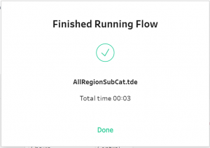 Tableau Prep: Finished Running Flow