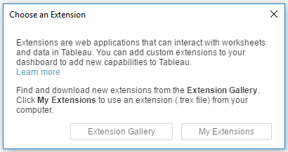 Choose an Extension