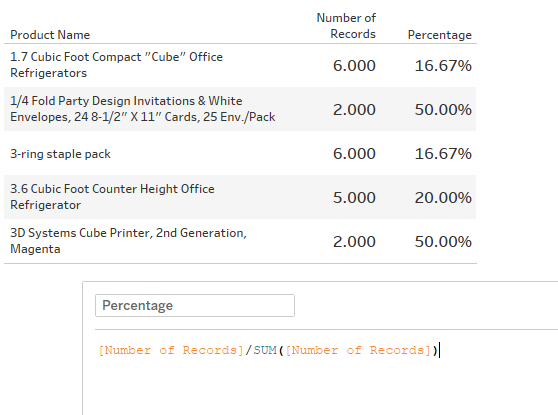 Advance with Assist calculating percentages
