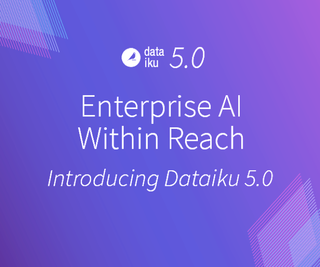 introducing Dataiku 5.0