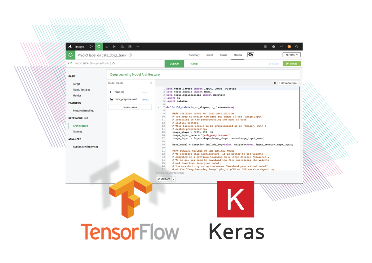 Dataiku TensorFlow and Keras integrations