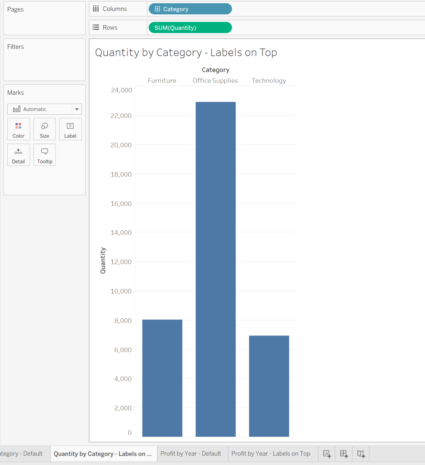 moving headers to the top of view in Tableau