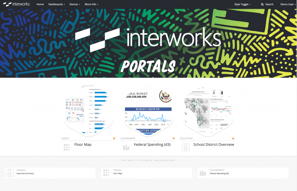 Portals for Tableau InterWorks demo from TC18