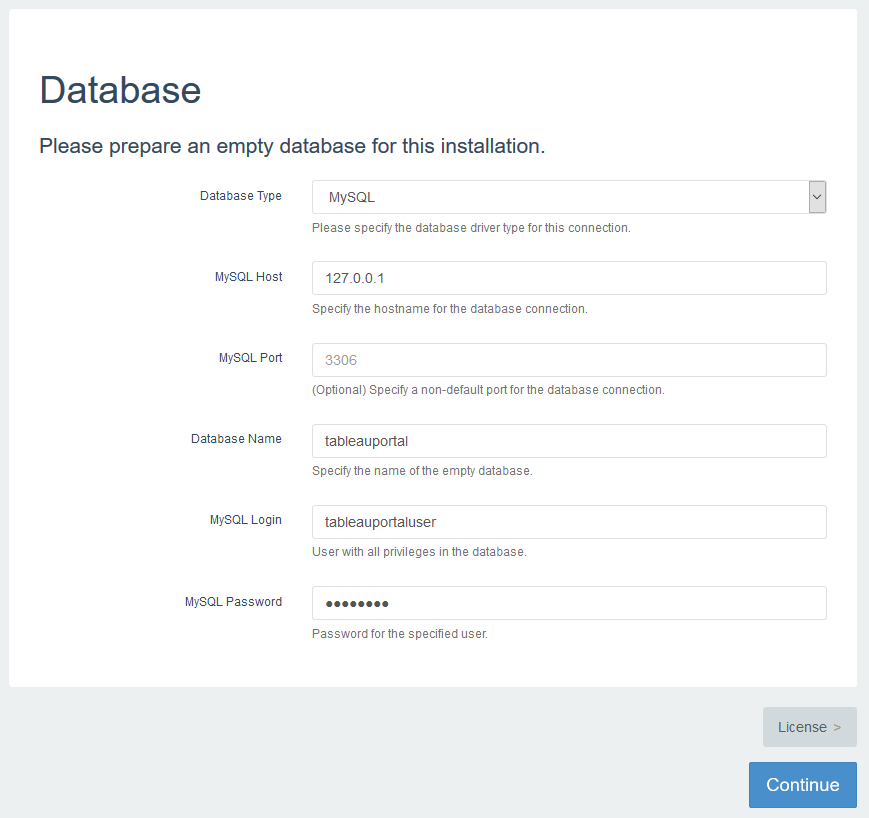 database details on AWS CloudFormation