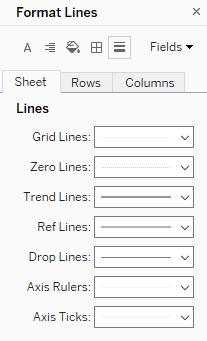 format lines in Tableau