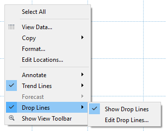 drop lines in Tableau