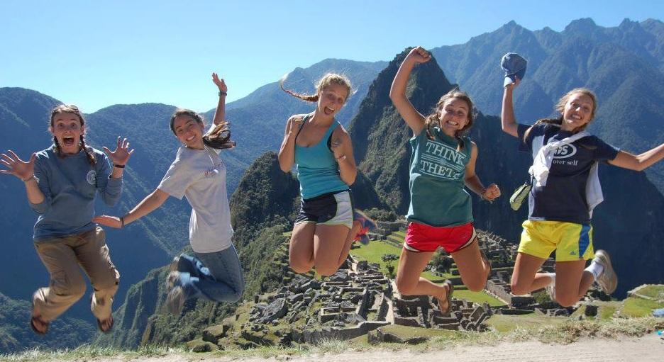 some of my Peru team and I at Machu Picchu