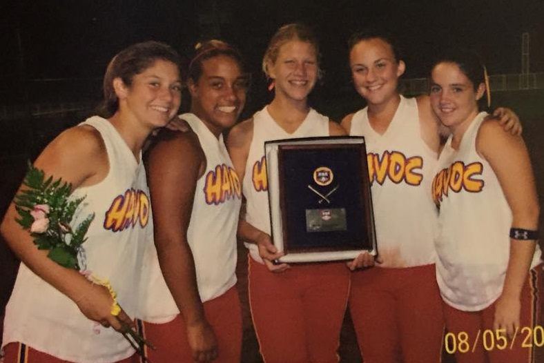 some of my softball teammates and I after winning nationals