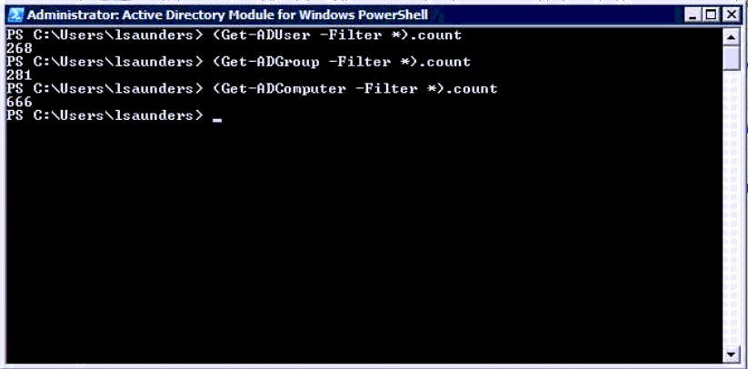 getting active directory counts