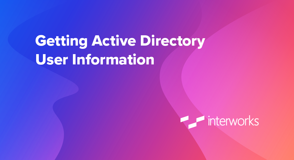 getting active directory user information
