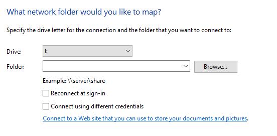 project folders in I: drive