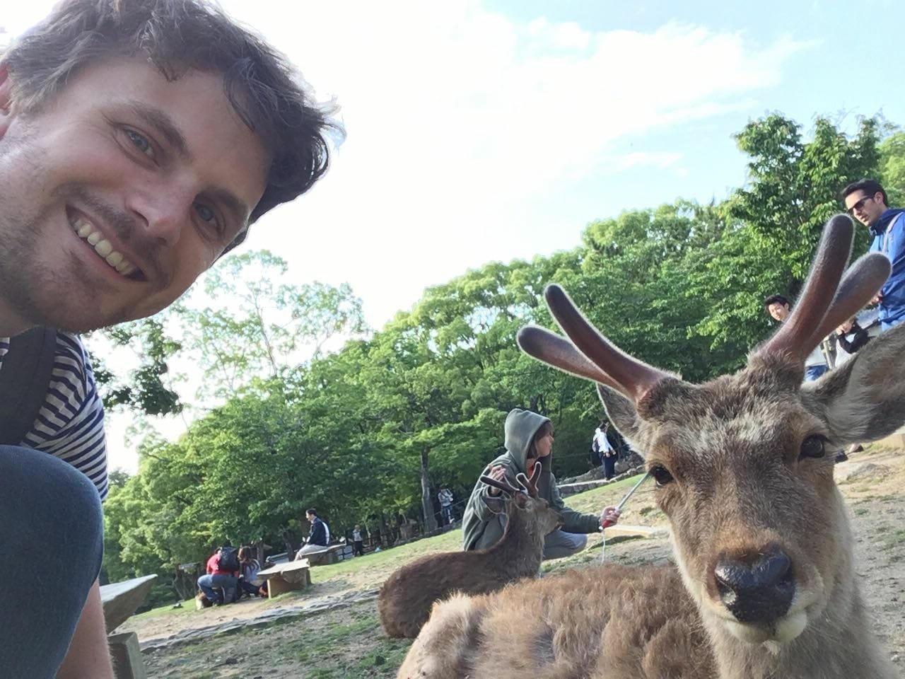 Justus and a reindeer