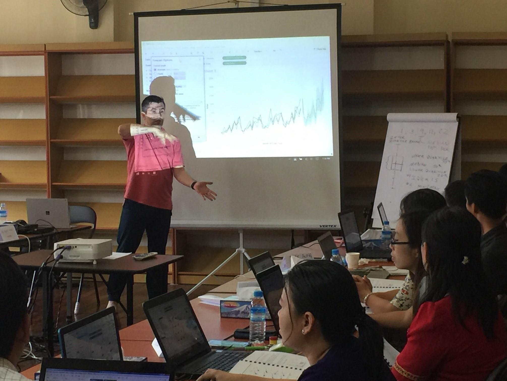 Rob teaching in Myanmar