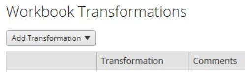 workbook transformations in Tableau