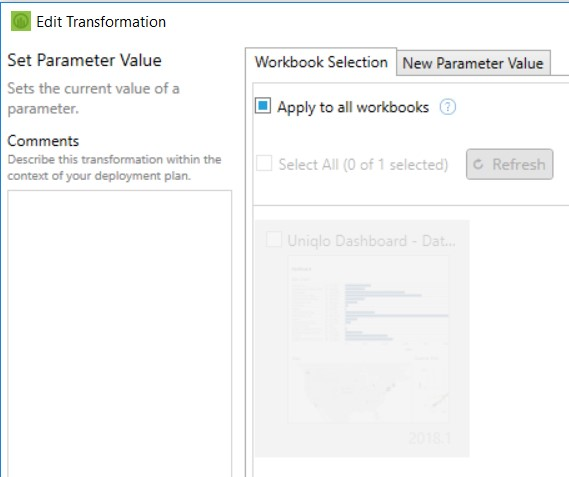edit transformation in Tableau