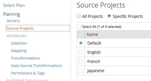 source projects in Tableau