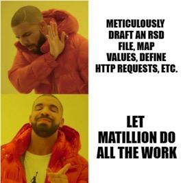 Drake Matillion meme