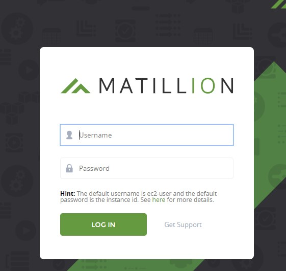 launching a new instance of Matillion