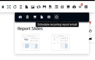 scheduled report builder in Tableau