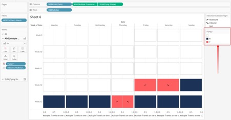 adding color in Tableau calendar view