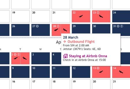 tooltip in Tableau calendar view
