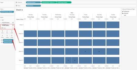building the calendar view in Tableau