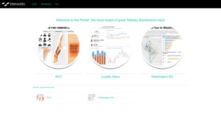 homepage insert in Portals for Tableau