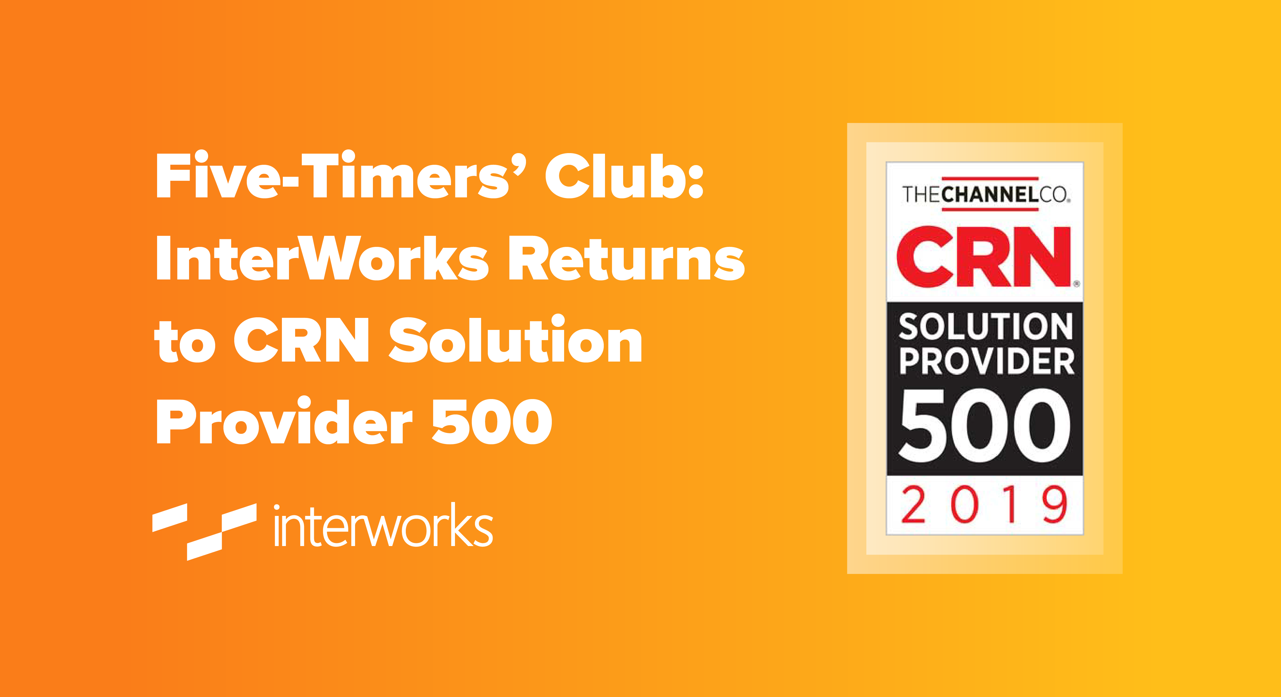 InterWorks named to CRN Solution Provider 500