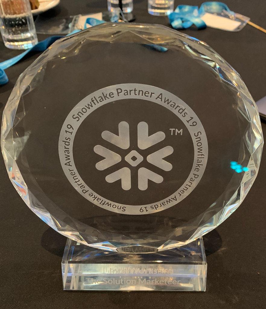 Snowflake Partner of the Year Award APAC