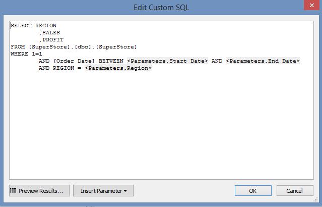 Passing Database Parameters In Tableau | InterWorks