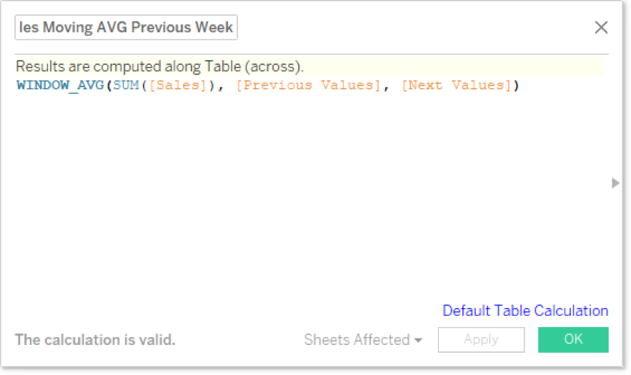 Window Functions and Table Calculations in Tableau