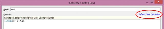 row calculation