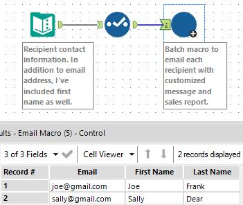 Specify email addresses in Alteryx