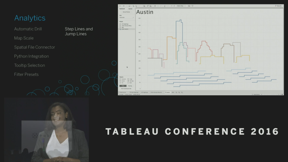 Tableau Conference 2016 - Devs on Stage -Step and Jump Lines