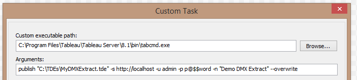 How to Automate a Tableau Data Source Refresh with DMExpress