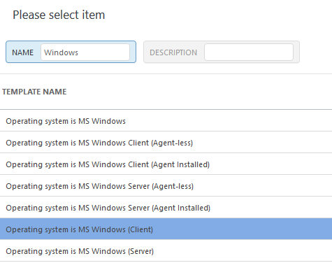 Operating system is MS Windows (Client)