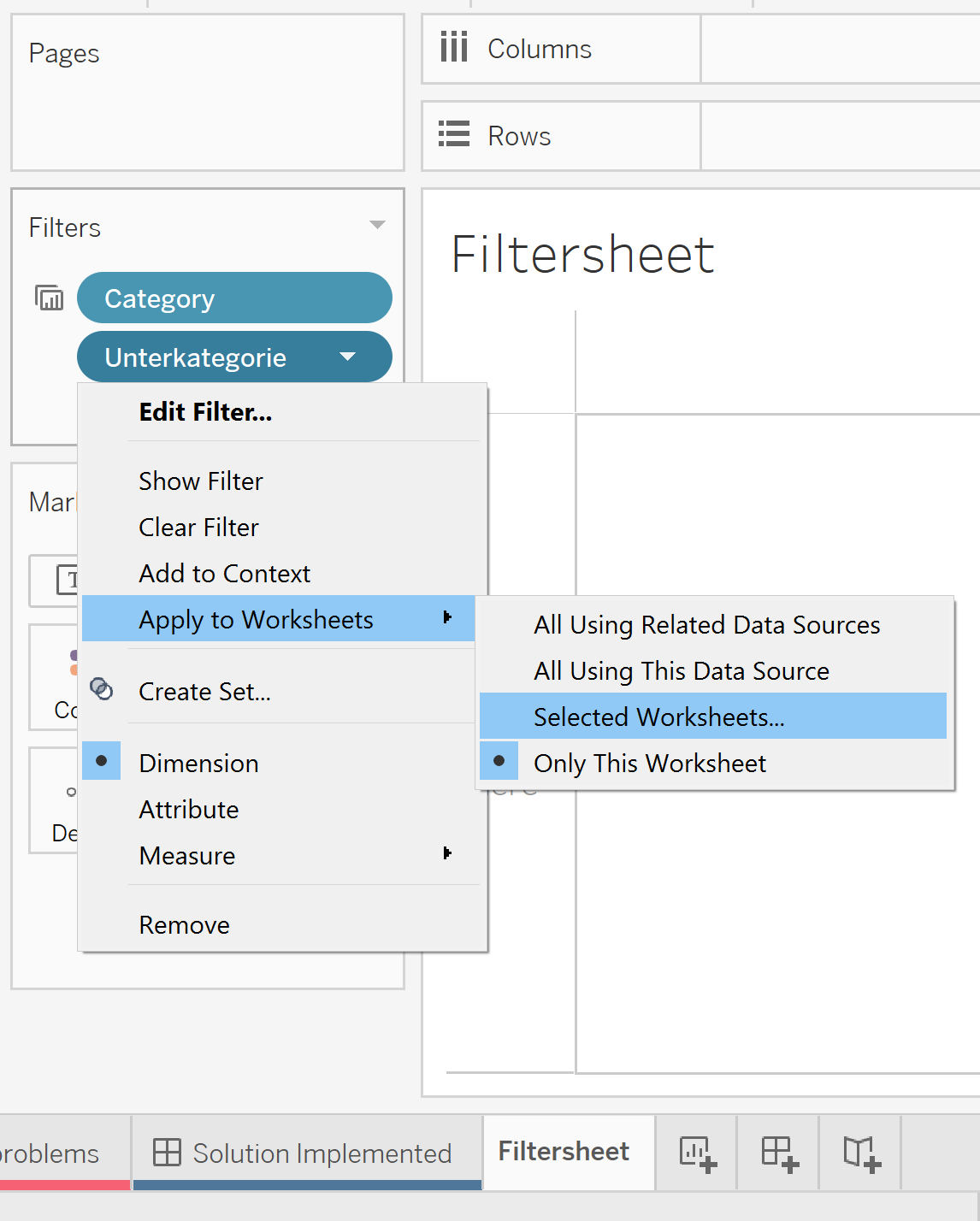 How to Create a Relevant Value Filter When Swapping Sheets in