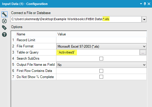 Input Data Alteryx