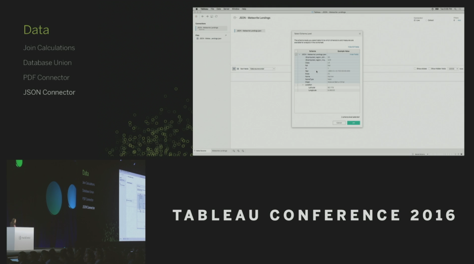 Tableau Conference 2016 - Devs on Stage - JSON Connector