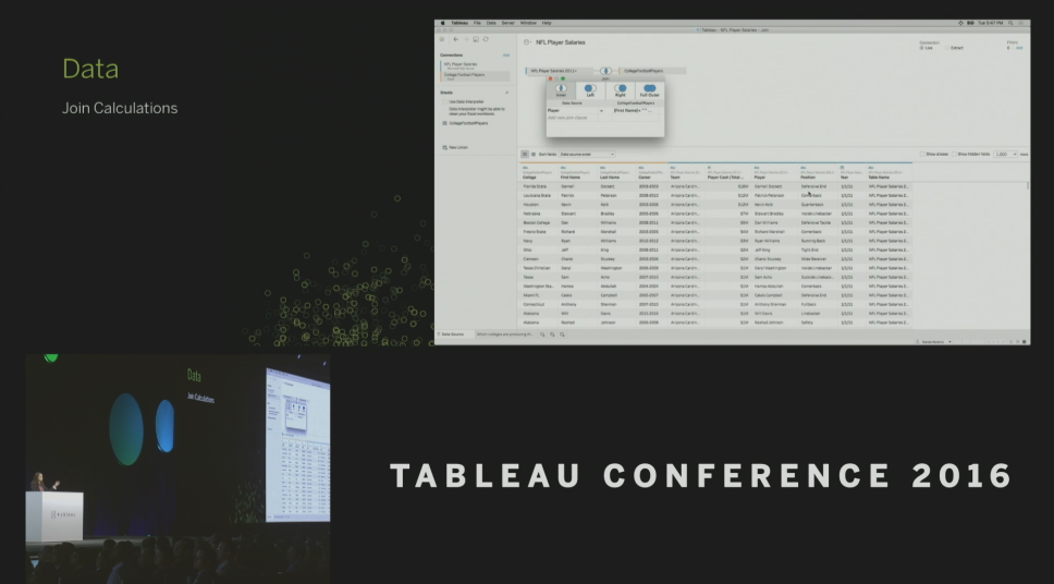 Tableau Conference 2016 - Devs on Stage - Join on Calculation