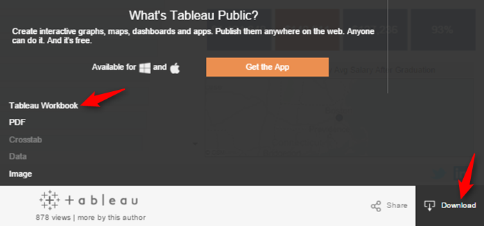 Download Tableau workbook