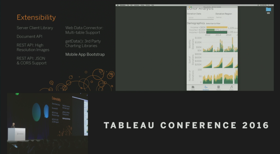 Tableau Conference 2016 - Devs on Stage - Mobile App Bootstrap